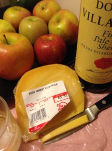 Gouda Herbert Excentrique + Domino de Villasanta Finest Pale Dry Sherry = bliss...